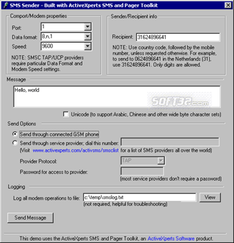 SMS and Pager Toolkit Screenshot 3