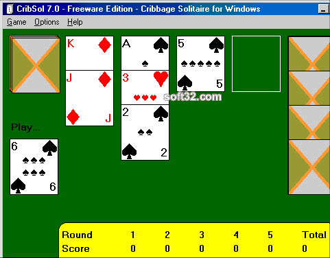 CribSol - Cribbage Solitaire Screenshot
