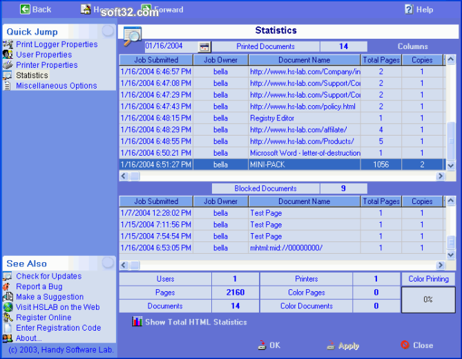 HSLAB Print Logger SE Screenshot 3