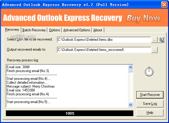 Advanced Outlook Express Recovery Screenshot 2