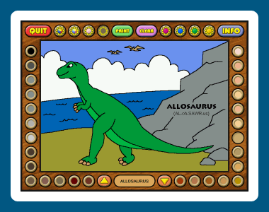 Coloring Book 2: Dinosaurs Screenshot 1