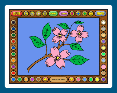 Coloring Book 4: Plants Screenshot 1
