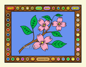 Coloring Book 4: Plants Screenshot 3