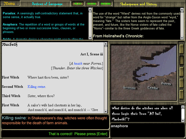 Macbeth Software Screenshot