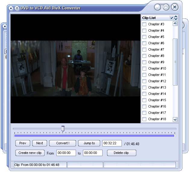 DVD to VCD AVI DivX Converter Screenshot 1