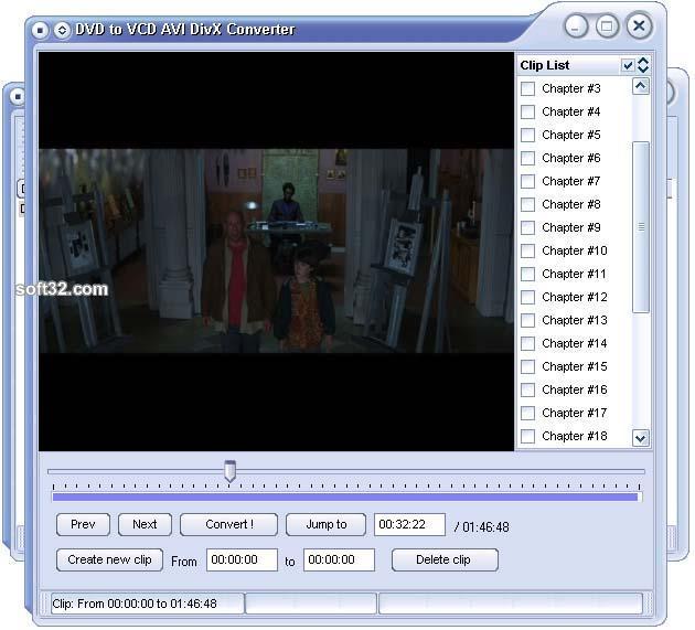 DVD to VCD AVI DivX Converter Screenshot 2