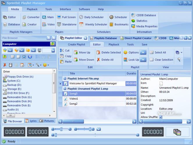 Sprintbit Playlist Manager Screenshot 2
