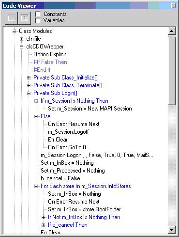 VB 6.0 Code Viewer and Validator Screenshot 1