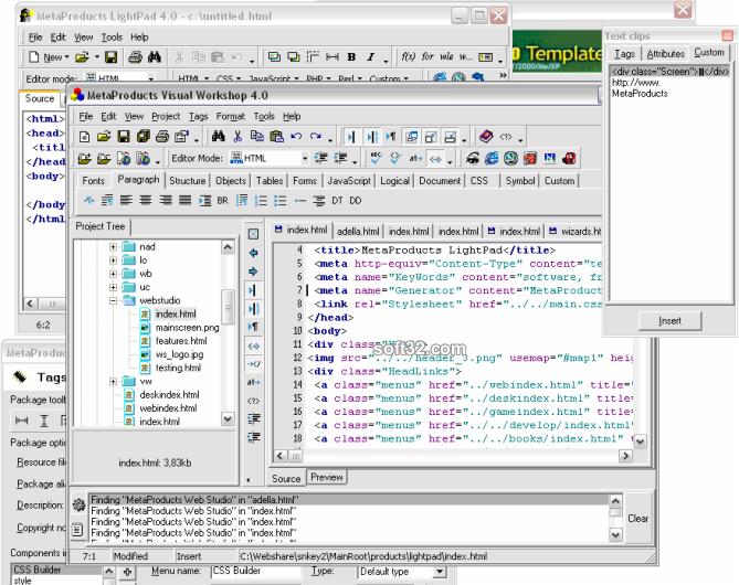 MetaProducts Web Studio Screenshot 2