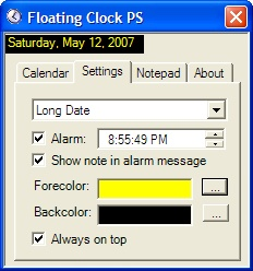 Floating Clock Screenshot 2