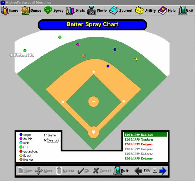 Baseball Memories Screenshot 2