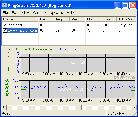 PingGraph Screenshot 2