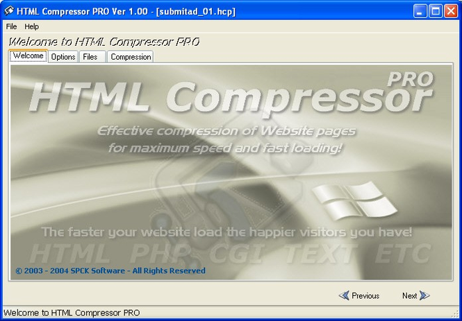 HTML Compressor PRO Screenshot