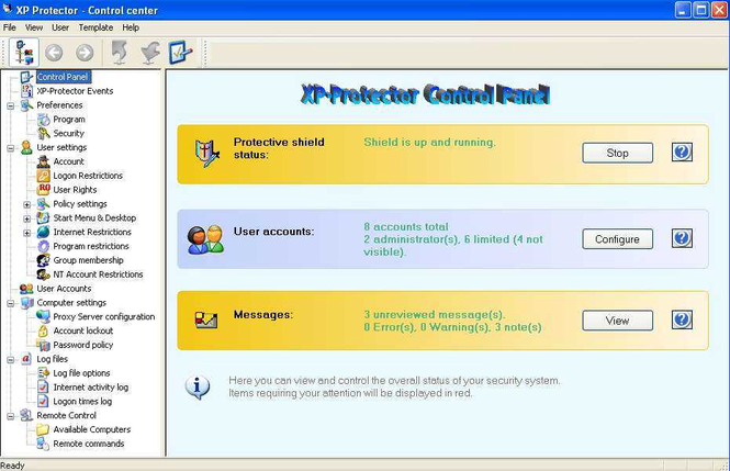 XP-Protector Screenshot 1
