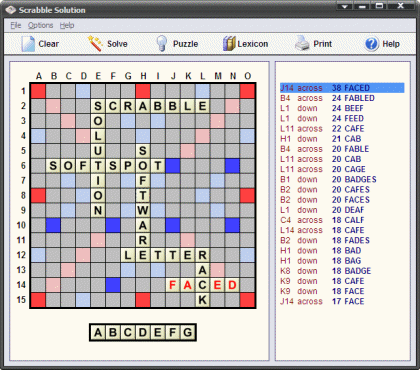 Scrabble Solution Screenshot 1