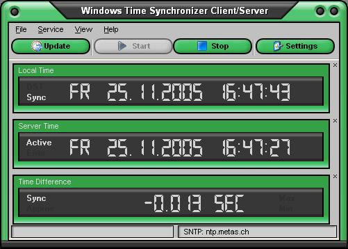 Windows Time Synchronizer Screenshot