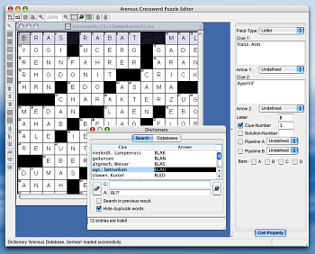 Arensus Crossword Puzzle Editor Screenshot