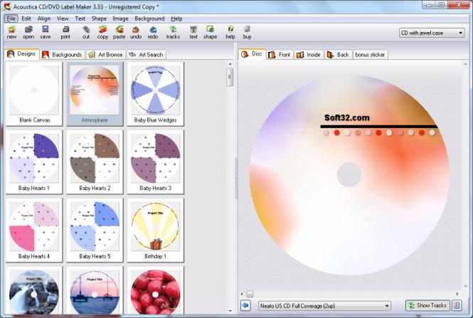 Audiolabel cd label maker 4. 40 (free) download latest version in.