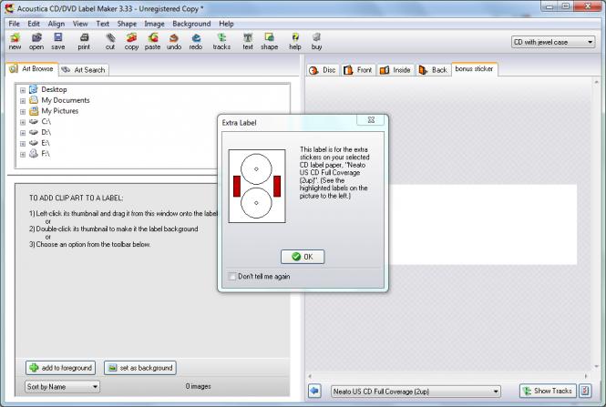 Acoustica CD/DVD Label Maker Screenshot 5
