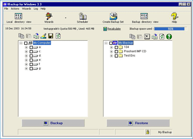 IBackup for Windows Screenshot