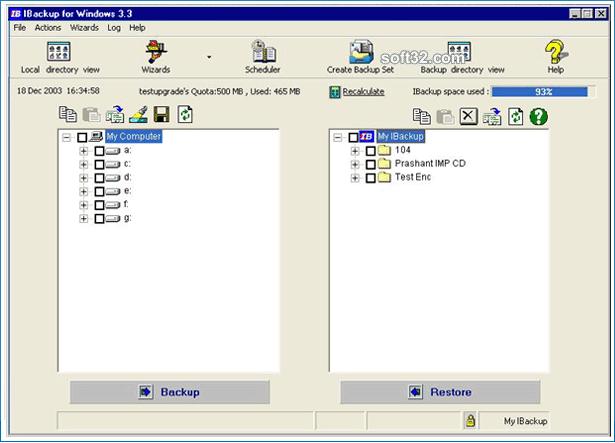 IBackup for Windows Screenshot 2