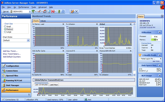 AdRem Server Manager Screenshot