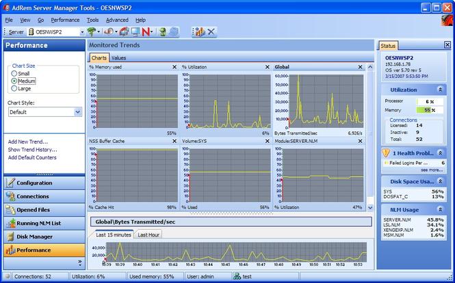 AdRem Server Manager Screenshot 1