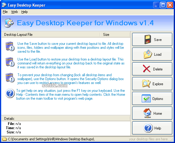 Easy Desktop Keeper Screenshot 3