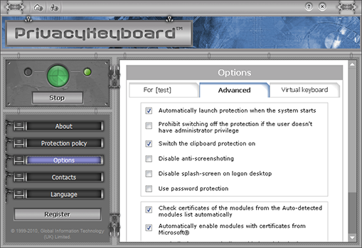 PrivacyKeyboard Screenshot