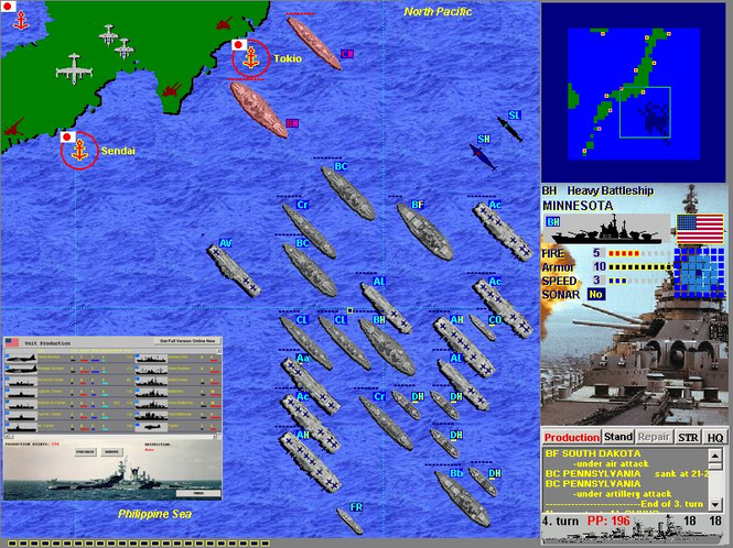 Battlefleet:  Pacific War Screenshot