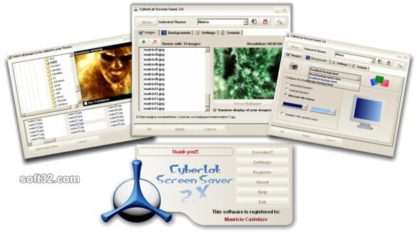 CyberLat Screen Saver Screenshot
