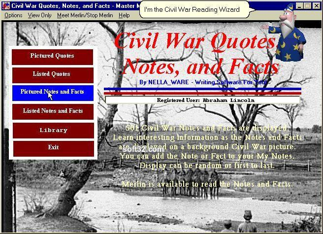 Civil War Quotes, Notes, and Facts Screenshot 3