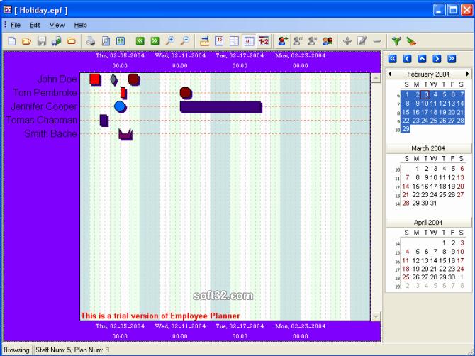 Employee Planner Screenshot 3