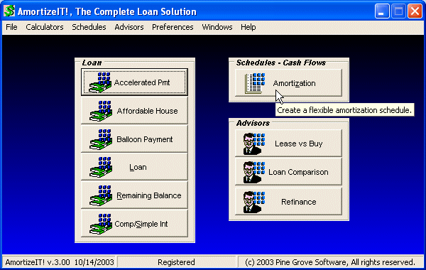 AmortizeIT!, The Complete Loan Solution Screenshot 4