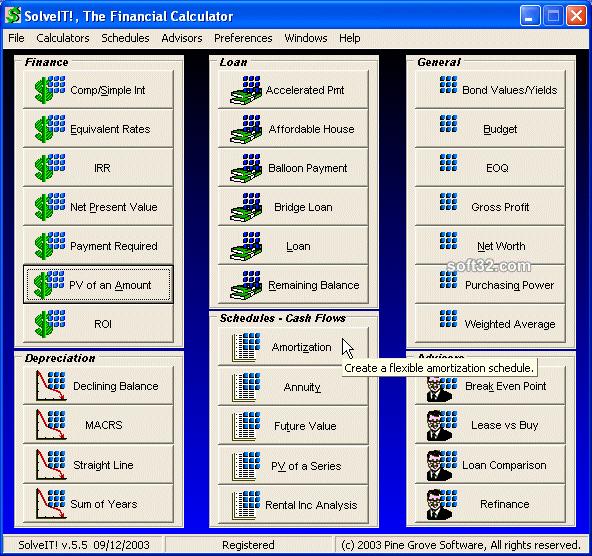 SolveIT!, The Financial Calculator Screenshot 2