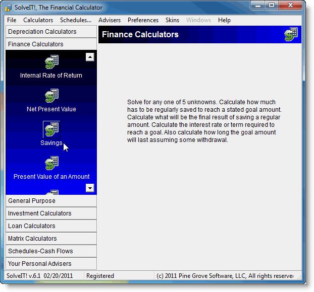 SolveIT!, The Financial Calculator Screenshot