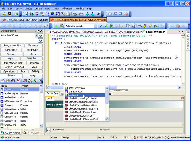 Toad for SQL Server Screenshot 2
