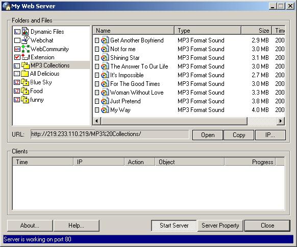 MyWeb Screenshot