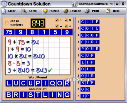 Countdown Solution Screenshot 2