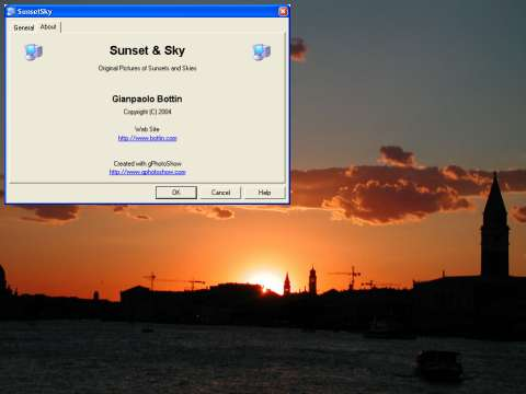 Sunset And Sky Screen Saver Screenshot