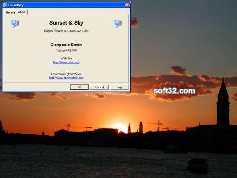 Sunset And Sky Screen Saver Screenshot 2