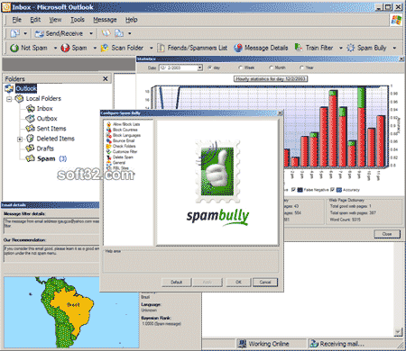 Spam Bully 2.0 for Outlook 2000/2002/2003 Screenshot 2