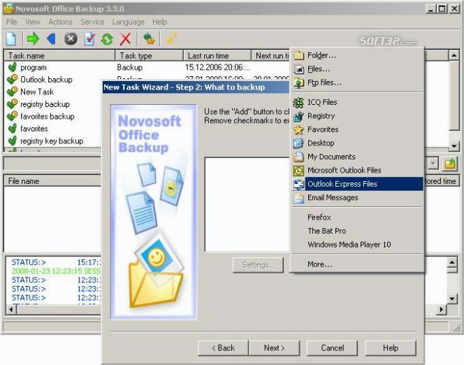 Novosoft Office Backup Screenshot 3