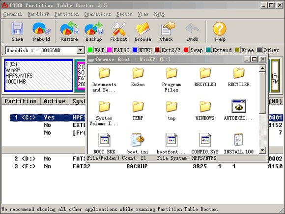 Partition Table Doctor Screenshot 1