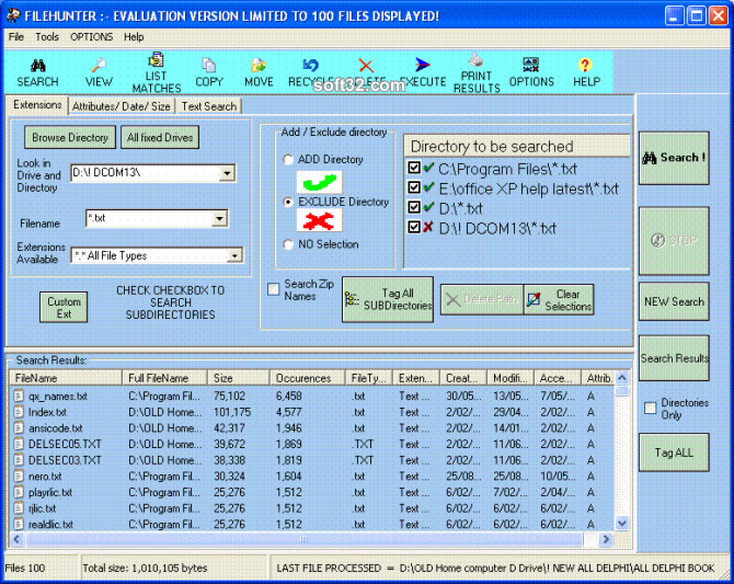 Filehunter Screenshot
