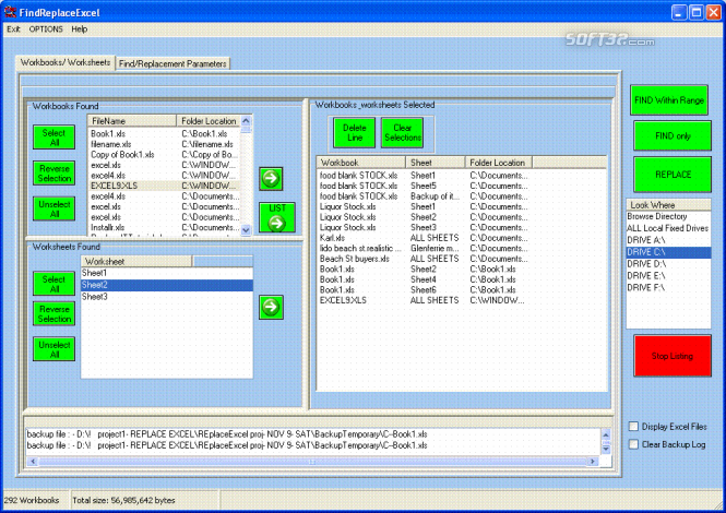 FindReplaceExcel Screenshot 1
