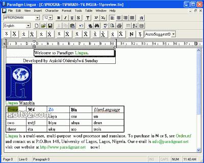 Paradigm Lingua Screenshot 1