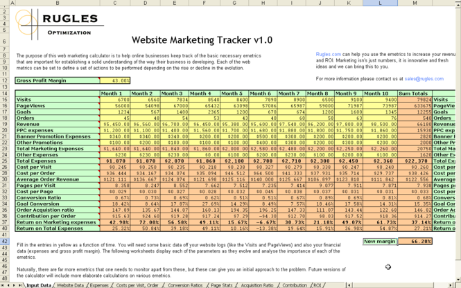 Website Marketing Tracker Screenshot 1