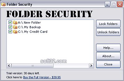 Folder Security Screenshot 3