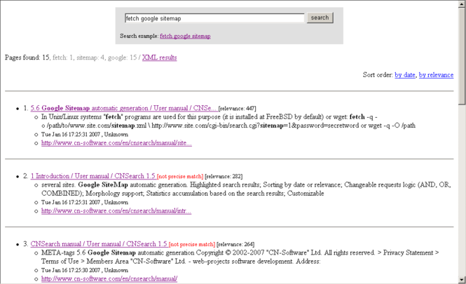 CNSearch Screenshot